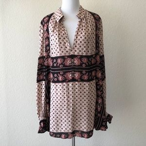 Free People changing times floral tunic top boho M